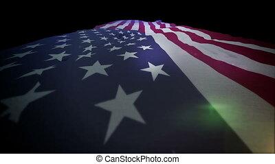 """""""american, drapeau, déplacer haut, slo-mo"""""""