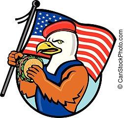 american-eagle-beret-burger-flag-CIRC-CARTOON