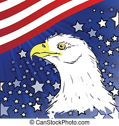 american eagle - colorful illustration with american eagle...