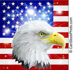 American eagle flag - Eagle America love heart concept with...
