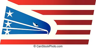 American eagle flag USA logo