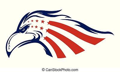 American eagle head logo vector