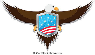 american eagle - illustration of united of states shield...