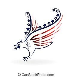 American eagle logo - Eagle American USA Flag icon logo...