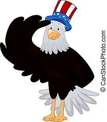 American Eagle Mascot Salute