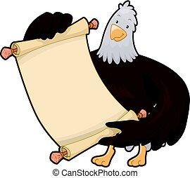 American Eagle Mascot Scroll