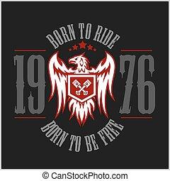 American Eagle Motorcycle Club Emblem.