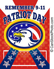 American Eagle Patriot Day 911 Poster Greeting Card - Poster...
