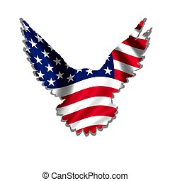 american eagle - stars & stripes design