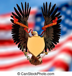American Eagle Symbol - American bald eagle wings out...