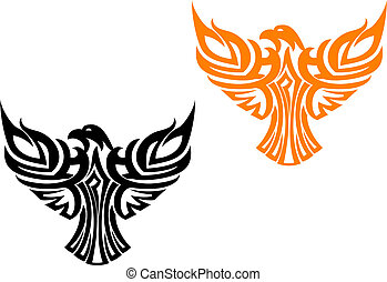 Beautiful american eagle symbol isolated on white
