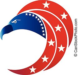 American eagle USA flag symbol logo