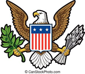 American Eagle - Vector illustration of the American Bold ...