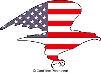 American eagle with USA flag vector illustration eps 10