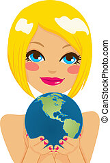 American Earth Woman