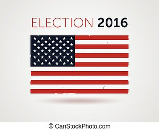 American election 2016 emblem badge logo with text
