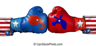 American Election - American election campaign fight as ...