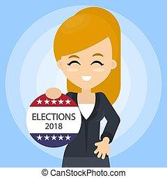 American election campaign.