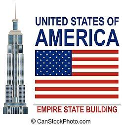 American Empire State Building illustration