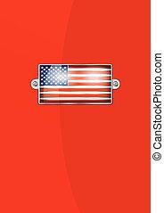 American Enamel Badge - Background