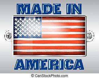 American Enamel Badge