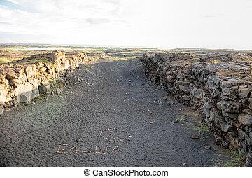 American Eurasian rift in Iceland