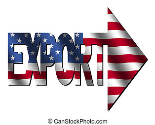 American export - export text with American flag...