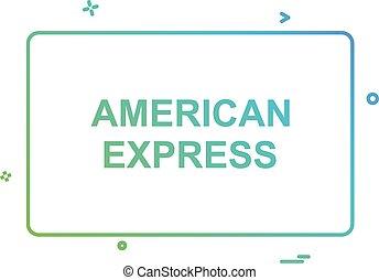 American Express card icon design vector