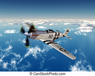 American fighter bomber - Computer generated 3D illustration...