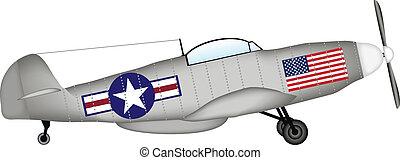 American fighter P-51 Mustang - P-51 Mustang - American...