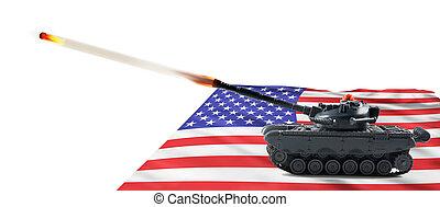 American Fire Power. - American fire power with tank firing.