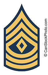 American First Sergeant insignia rank badge isolated on ...