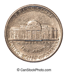 American five cents coin
