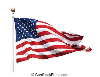 american fla, na, niejaki, maszt flagowy