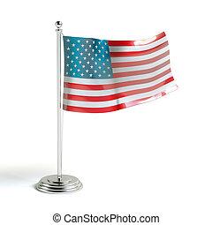 American flag 3d illustration