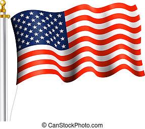 American Flag  - America Flag Waving