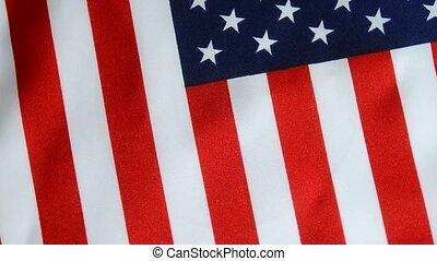 American Flag. - American flag rotating.