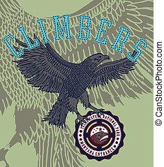 american flag and eagle vector art