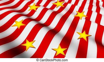 American Flag and Stars Loop