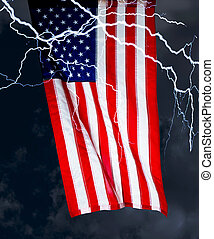 American Flag and Storm.