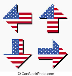 American flag arrows