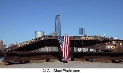 American Flag at 9/11 Memorial