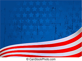 American flag background - An American flag star and stripe...