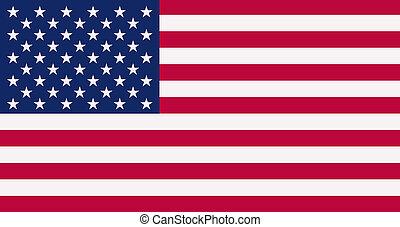American flag background closeup. 3D render illustration.