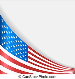 American flag background. Vector illustration.