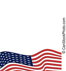 American flag background, vector