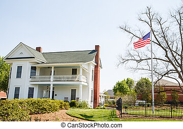 American Flag by Two Story Traditional