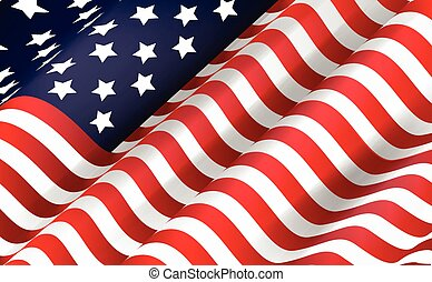 American flag - Illustration of American flag