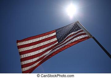 American flag. Close up