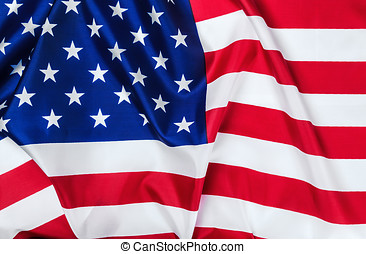 American flag Close-up background